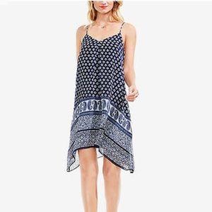 Vince Camuto Paisley Asymmetric Dress (Blue/White)